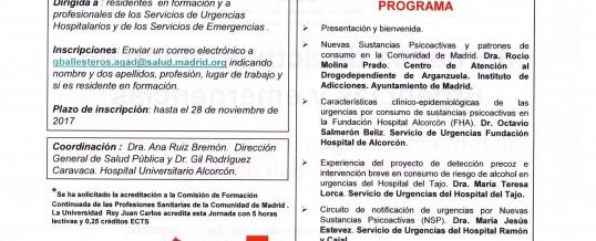 III Jornada de Urgencias por consumo de sustancias psicoactivas