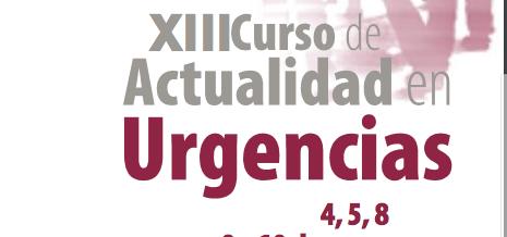 XIII CURSO DE ACTUALIDAD EN URGENCIAS – HOSPITAL U. CLINICO SAN CARLOS