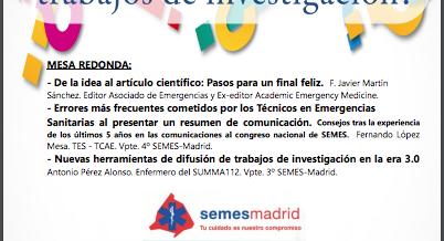 Jornada SEMES MADRID: ¿Cómo realizar y difundir trabajos de investigación?