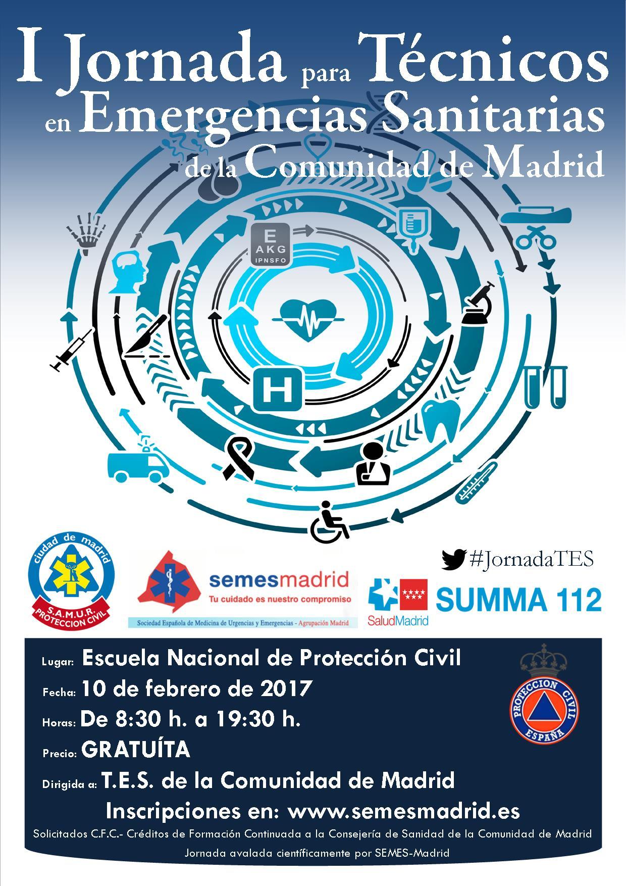 I jornada para técnicos en emergencias sanitarias de la comunidad de madrid.