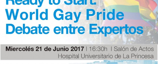 Ready to start: World Gay Pride – Debate entre expertos