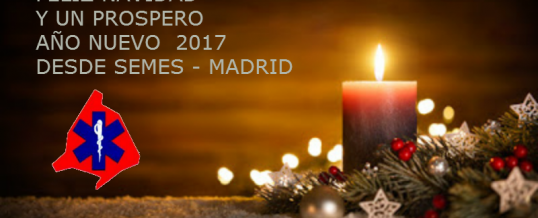 Felices Fiestas y un prospero año nuevo desde SEMES-Madrid