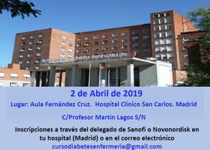 VI Jornada de Enfermería sobre manejo de la Diabetes en Urgencias