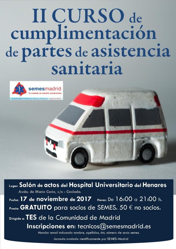 ii edicion curso cumplimentacion partes de asistencia sanitaria madrid
